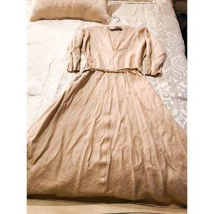 Zara dress in Tan